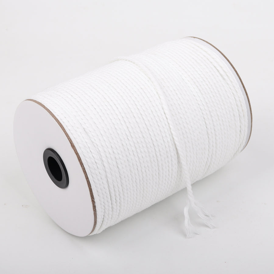 4mm White Cotton Macrame Cord