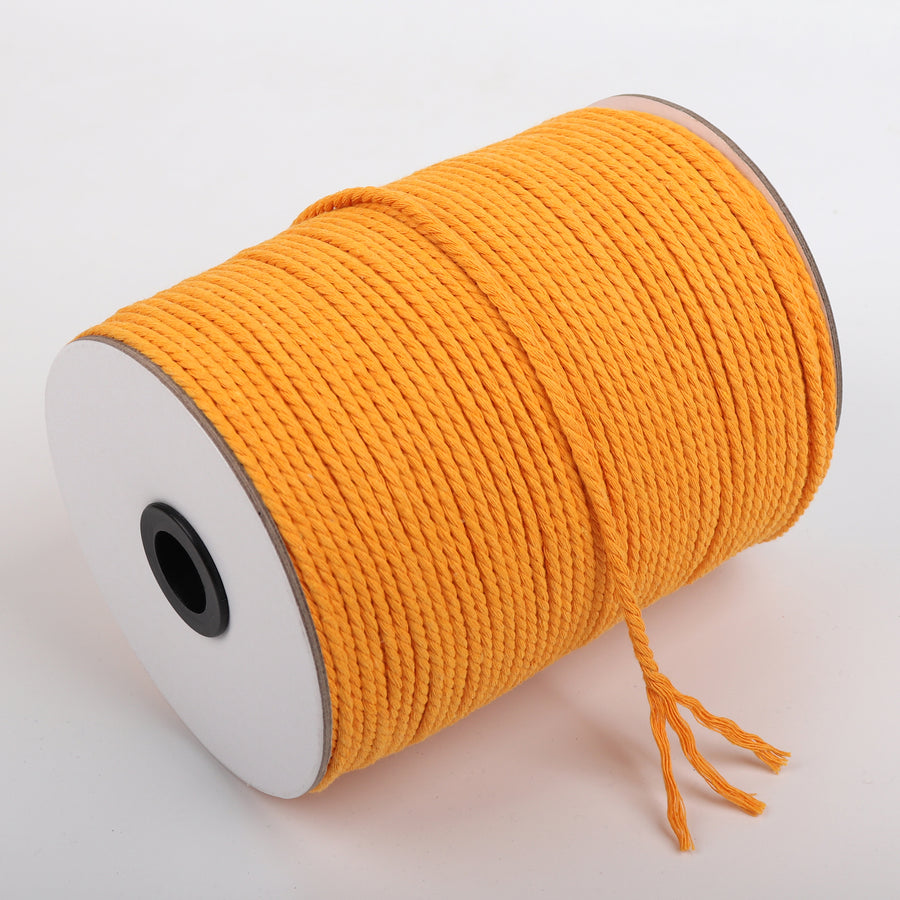 3mm Mustard Cotton Macrame Cord