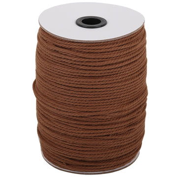 3mm Coffee Cotton Macrame Cord