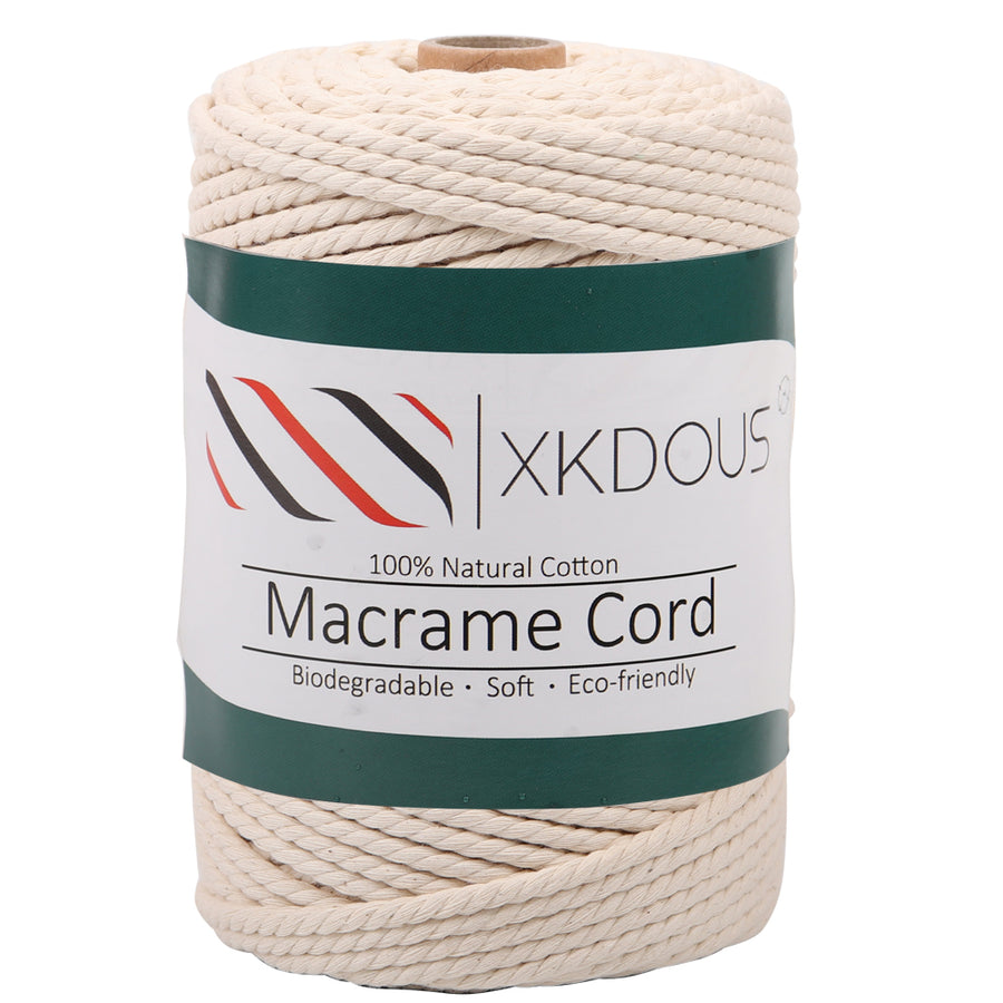 4mm 109yards Natural Color Macrame Cord