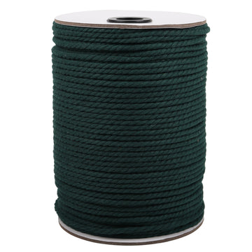 4mm Deep Green Cotton Macrame Cord
