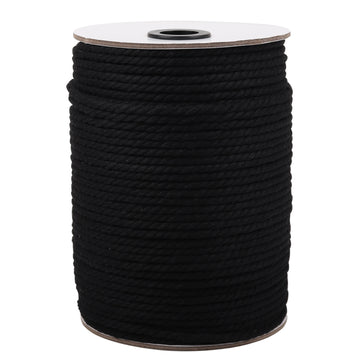 4mm Black Cotton Macrame Cord
