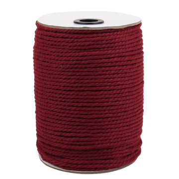 4mm Wine Red Cotton Macrame Cord