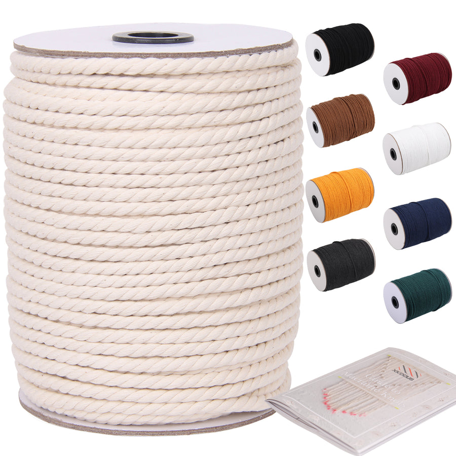 6mm Natural Color Macrame Cord