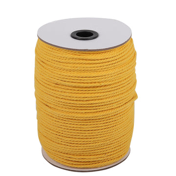 3mm Yellow Cotton Macrame Cord