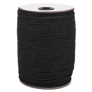 3mm Dark Grey Cotton Macrame Cord