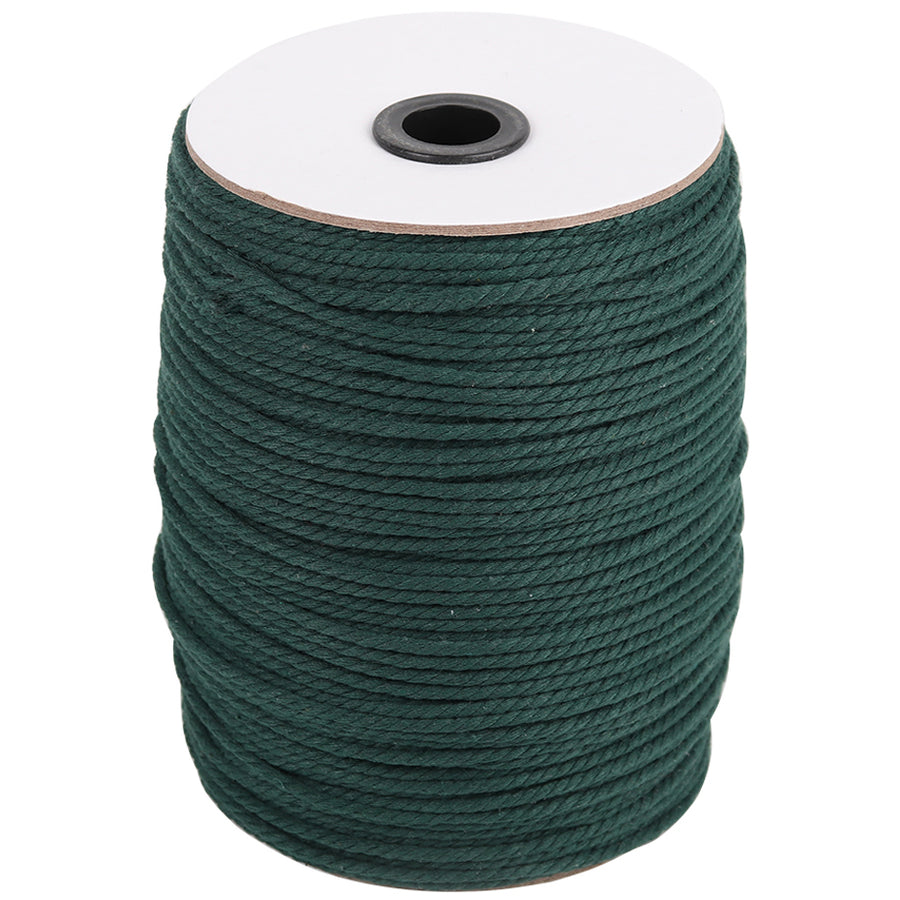 3mm Deep Green Cotton Macrame Cord