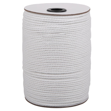 3mm White Cotton Macrame Cord