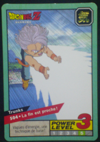 carte dragon ball z Carddass Le Grand Combat part 2 n°504 bandai 1996