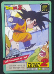 carte dragon ball z Carddass Le Grand Combat part 2 n°505