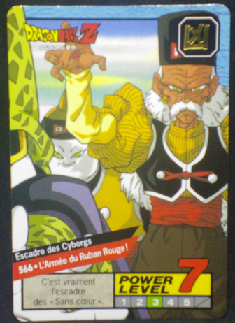 carte dragon ball z Carddass Le Grand Combat part 3 n°566 bandai 1996
