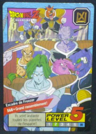 carte dragon ball z Carddass Le Grand Combat part 3 n°568 bandai 1996