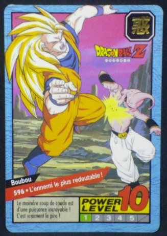 carte dragon ball z Carddass Le Grand Combat part 4 n°596 bandai 1996