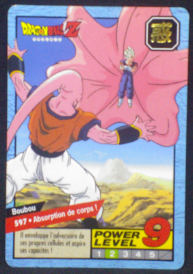carte dragon ball z Carddass Le Grand Combat part 4 n°597 bandai 1996
