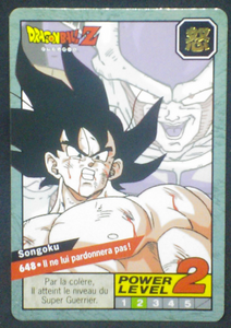 carte dragon ball z Carddass Le Grand Combat part 5 n°648 bandai 1996