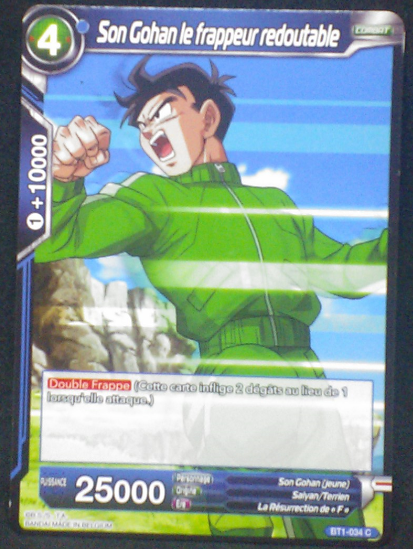carte dragon ball super BT1-034 C fr bandai 2018 songohan