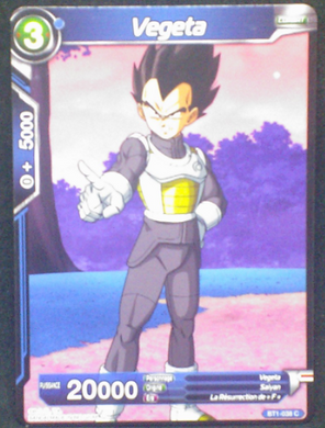 carte dragon ball super BT1-038 C fr bandai 2018 vegeta