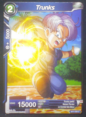 carte Dragon Ball Super Card Game Fr Part 1 BT1-039 C Trunks bandai 2018