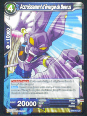 carte dragon ball super BT1-042 UC fr bandai 2018 beerus