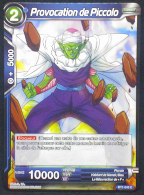 carte dragon ball z BT1-046 C fr card game bandai 2018 piccolo