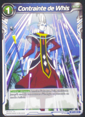 carte dragon ball super BT1-055 C fr card game bandai 2018 whis