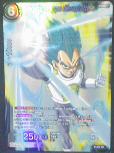 carte Dragon Ball Super Card Game Fr Cartes hors serie P-001 PR Vegeta, frappe dévastatrice bandai 2018