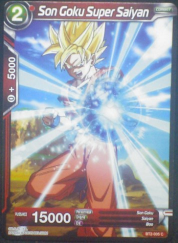 carte Dragon Ball Super Card Game Fr Part 2 BT2-005C Son Goku Super Saiyan bandai 2018