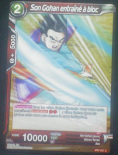 carte Dragon Ball Super Card Game Fr Part 2 BT2-007C Son Gohan entrainé à bloc bandai 2018