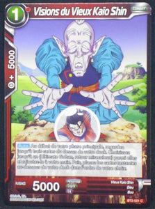 carte Dragon Ball Super Card Game Fr Part 2 BT2-021C Visions du Vieux Kaio Shin bandai 2018