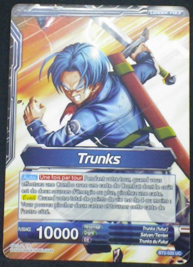 carte Dragon Ball Super Card Game Fr Part 2 BT2-035 UC Trunks