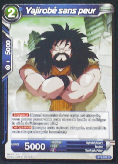 carte Dragon Ball Super Card Game Fr Part 2 BT2-052C Yajirobé sans peur bandai 2018