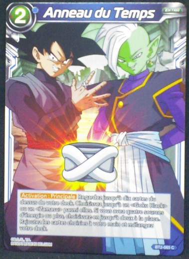 carte Dragon Ball Super Card Game Fr Part 2 BT2-065C Anneau du Temps bandai 2018