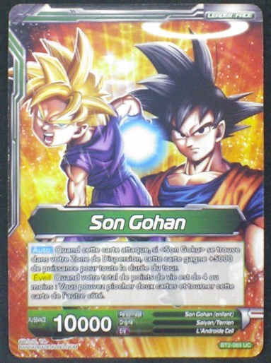 carte Dragon Ball Super Card Game Fr Part 2 BT2-069UC Son Gohan bandai 2018