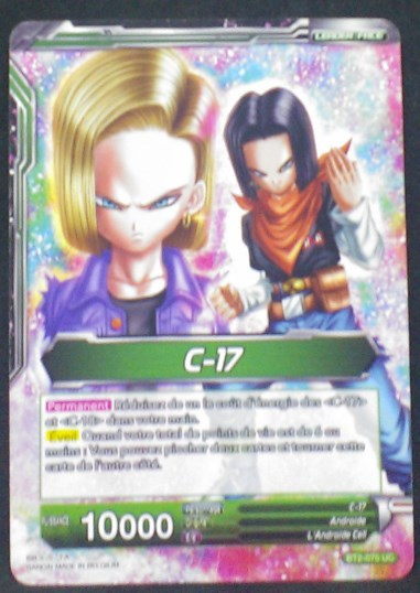 carte Dragon Ball Super Card Game Fr Part 2 BT2-070UC C-17 bandai 2018