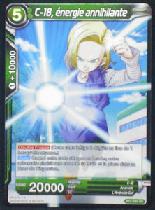 carte Dragon Ball Super Card Game Fr Part 2 BT2-090UC C-18, énergie annihilante bandai 2018