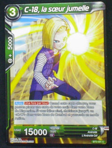 carte Dragon Ball Super Card Game Fr Part 2 BT2-091C C-18, la soeur jumelle bandai 2018