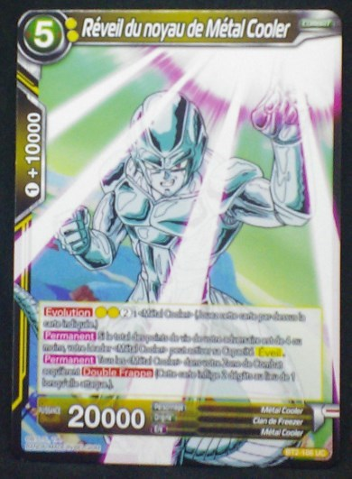 carte Dragon Ball Super Card Game Fr Part 2 BT2-106UC Réveil du noyau de Métal Cooler bandai 2018