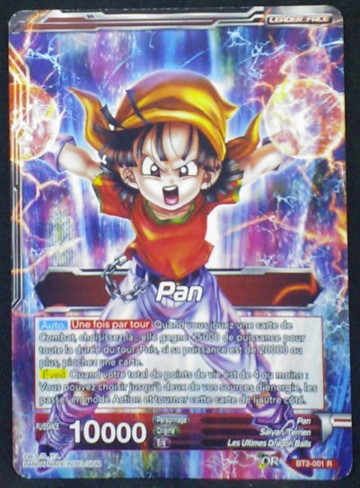 carte Dragon Ball Super Card Game Fr Part 3 BT3-001R Pan bandai 2018