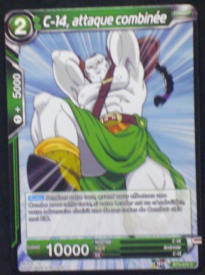 carte Dragon Ball Super Card Game Fr Part 3 BT3-072C C-14, attaque combinée bandai 2018