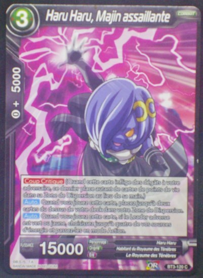 carte Dragon Ball Super Card Game Fr Part 3 BT3-120 C (fr) Haru Haru, Majin assaillante bandai 2018