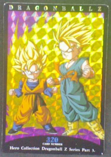 trading card game jcc carte dbz Hero Collection Part 3 n°320 (1995) Amada Songoten Trunks dragon ball z prisme