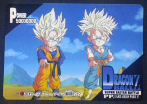 carte dragon ball z pp card part 27 n°1189 amada 1995