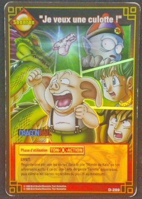 trading card game jcc fr carte dragon ball carte a jouer et a collectionner (jcc) part 3 D-289 prisme holo oolong shenron pilaf bulma yamcha db cardamehdz