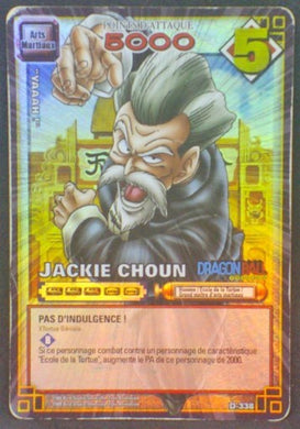 trading card game jcc carte dragon ball carte a jouer et a collectionner (jcc) part 3 D-338 prisme holo jacky choun db cardamehdz