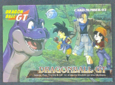 trading card game jcc carte dragon ball gt Trading Collection Chromium Card DBGT Part 1 n°02 (1996) songoku trunks pan cardamehdz