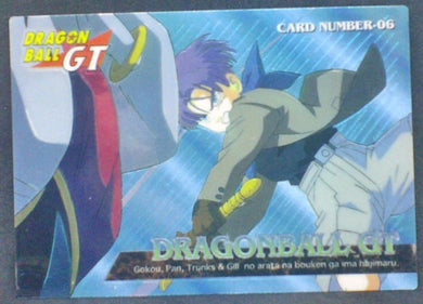 trading card game jcc carte dragon ball gt Trading Collection Chromium Card DBGT Part 1 n°06 (1996) trunks amada dbgt cardamehdz
