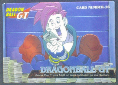 trading card game jcc carte dragon ball gt Trading Collection Chromium Card DBGT Part 1 n°26 (1996) cardamehdz