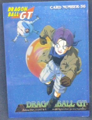trading card game jcc carte dragon ball gt Trading Collection Chromium Card DBGT Part 1 n°36 (1996) trunks amada dbgt cardamehdz