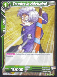 carte dragon ball super BT1-068 C fr card game bandai 2018 trunks déchaîné