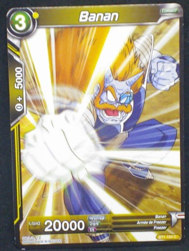 carte dragon ball super BT1-104 C fr bandai 2018 Banan - Armée de Freezer - Freezer